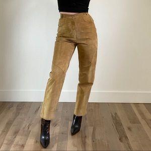 DANIER Vintage Tan High Waist Trousers